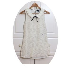 Forever 21 White Lace Floral Sleeveless Dress